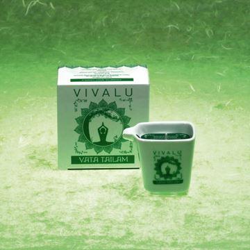 Immagine di CANDELA MASSAGGIO TAILAM ML.60 VIVALU VATA VERDE-GREEN