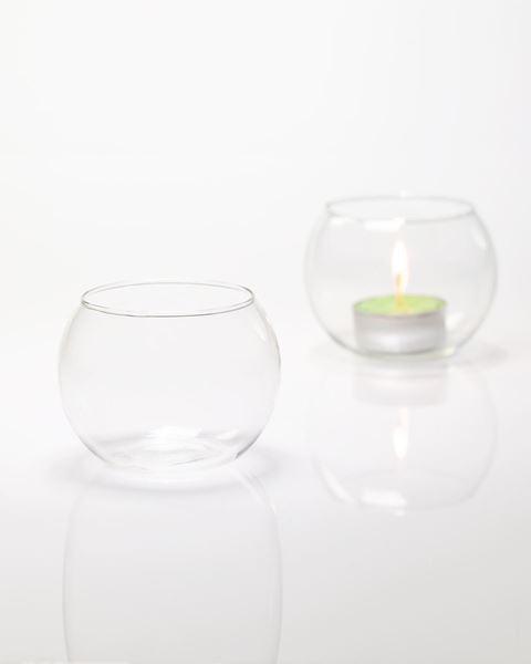 portacandela vetro sfera