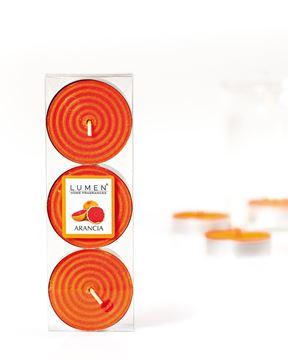 maxi tealights arancia
