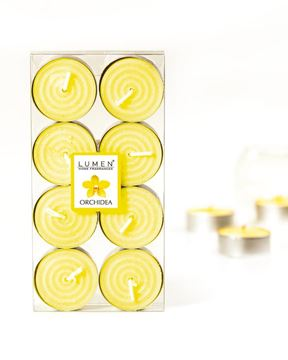 Immagine di 8 TEALIGHTS FRAGRANZA ORCHIDEA DIAM.4X2CM.
