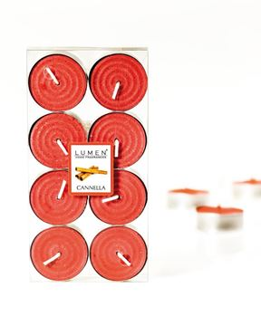Immagine di 8 TEALIGHTS FRAGRANZA CANNELLA DIAM.4X2CM.