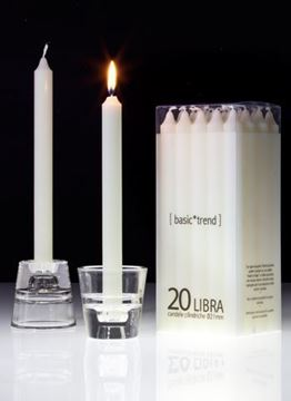 Immagine di 20 LIBRA AVORIO candele cilindriche h.24cm