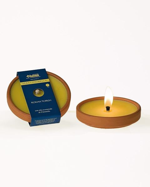Immagine di ROMAN TORCH 5 TERRACOTTA CM13 CITRONELLA ANTIVEVENTO