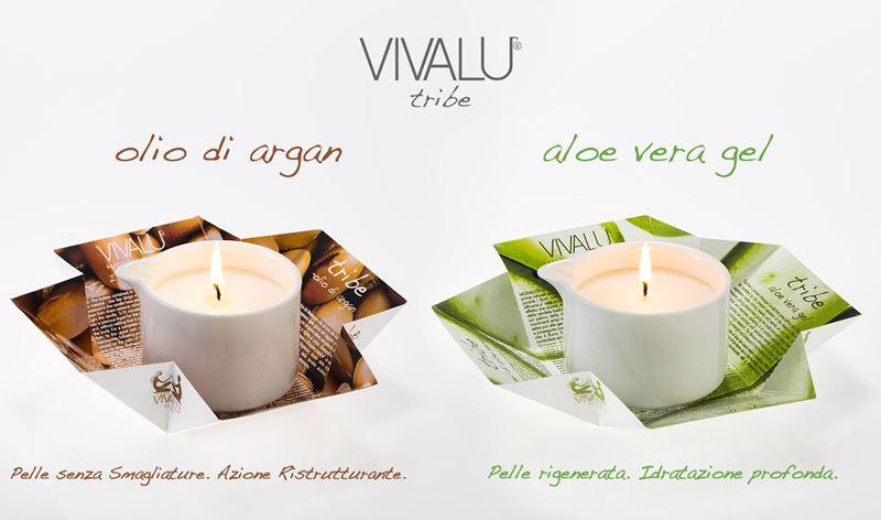 Candele da Massaggio VIVALU Tribe, le nuove formule.