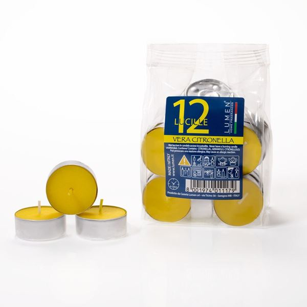 12 Lucille Tealights Citronella