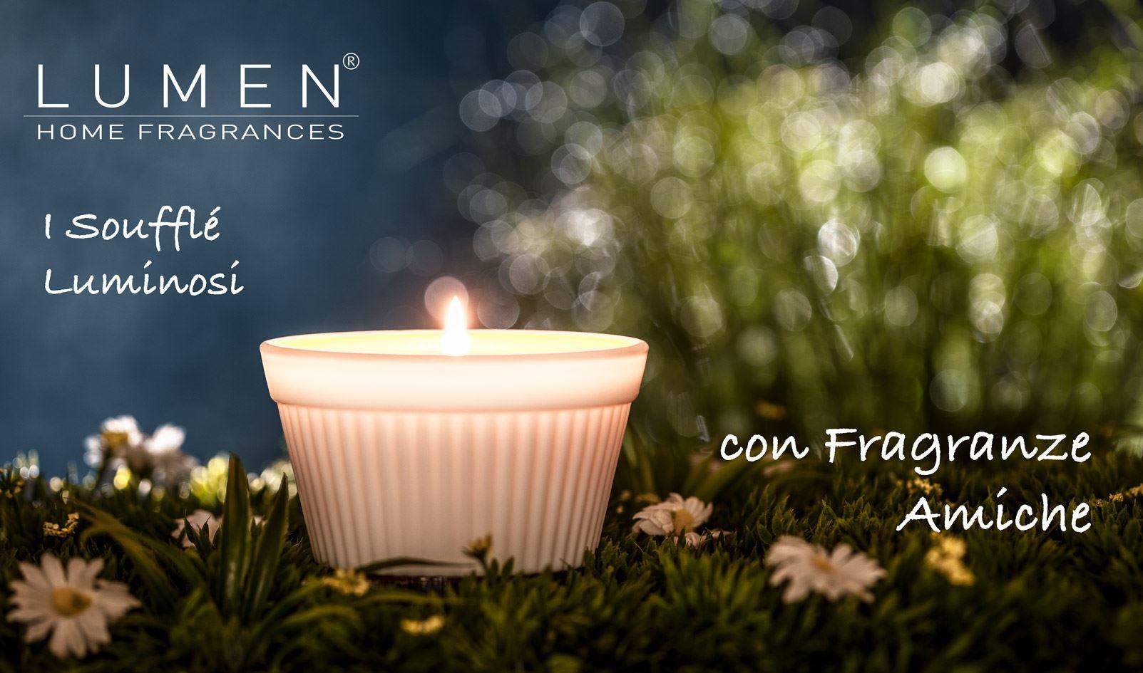I Soufflé Luminosi, Candele Vegetali con Fragranze Amiche