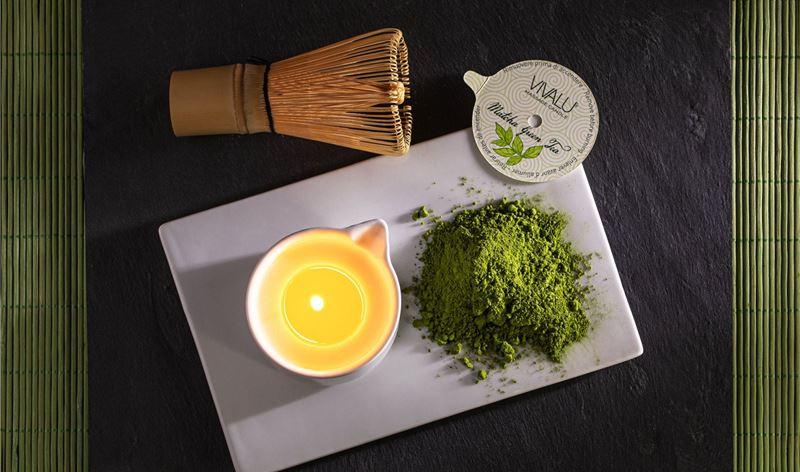 Candele da Massaggio, le nuove formule al Matcha Gree Tea e alle Mandorle e Fiori di Arancio