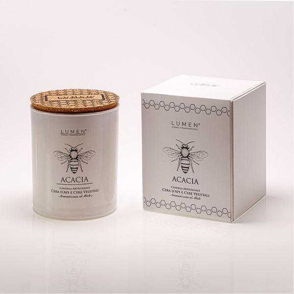 Candela Natura Amica cera d'api astuccio Acacia