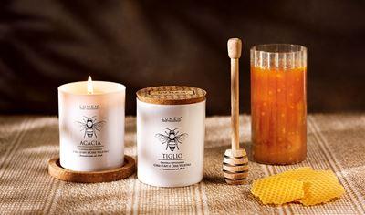 NATURA AMICA candela artigianale con Cera d'Api